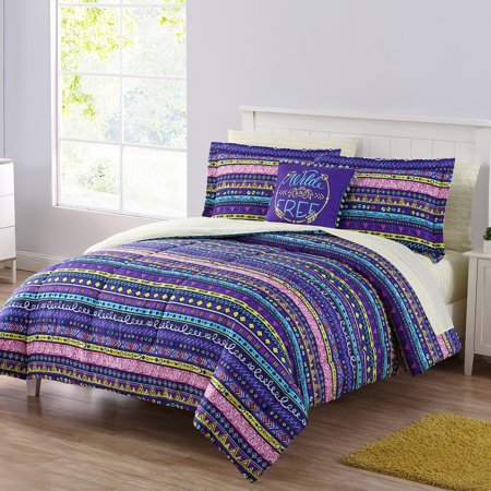 Mainstays Wild and Free Bed in a Bag Bedding Comforter Set, Queen ()
