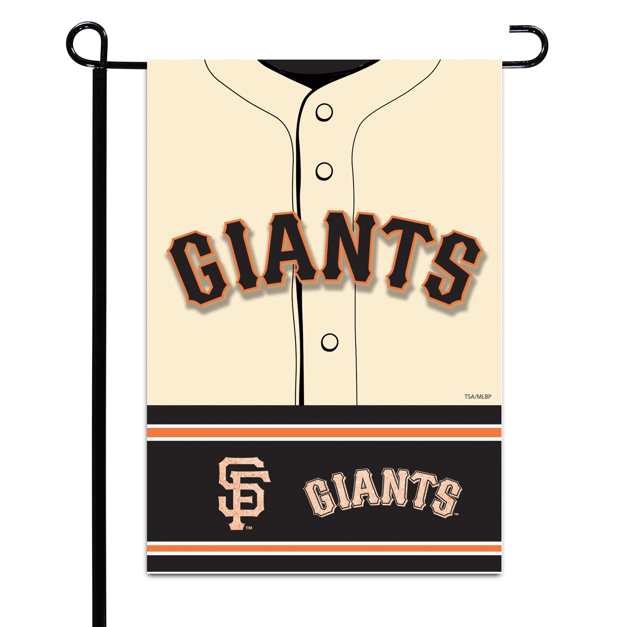 """San Francisco Giants 12.5"""" x 18"""" Double-Sided Jersey Foil Garden Flag - No Size"""