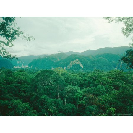 Mulu National Park, Borneo, Weather Time-Lapse, 6Pm Print Wall Art By Rodger Jackman ()