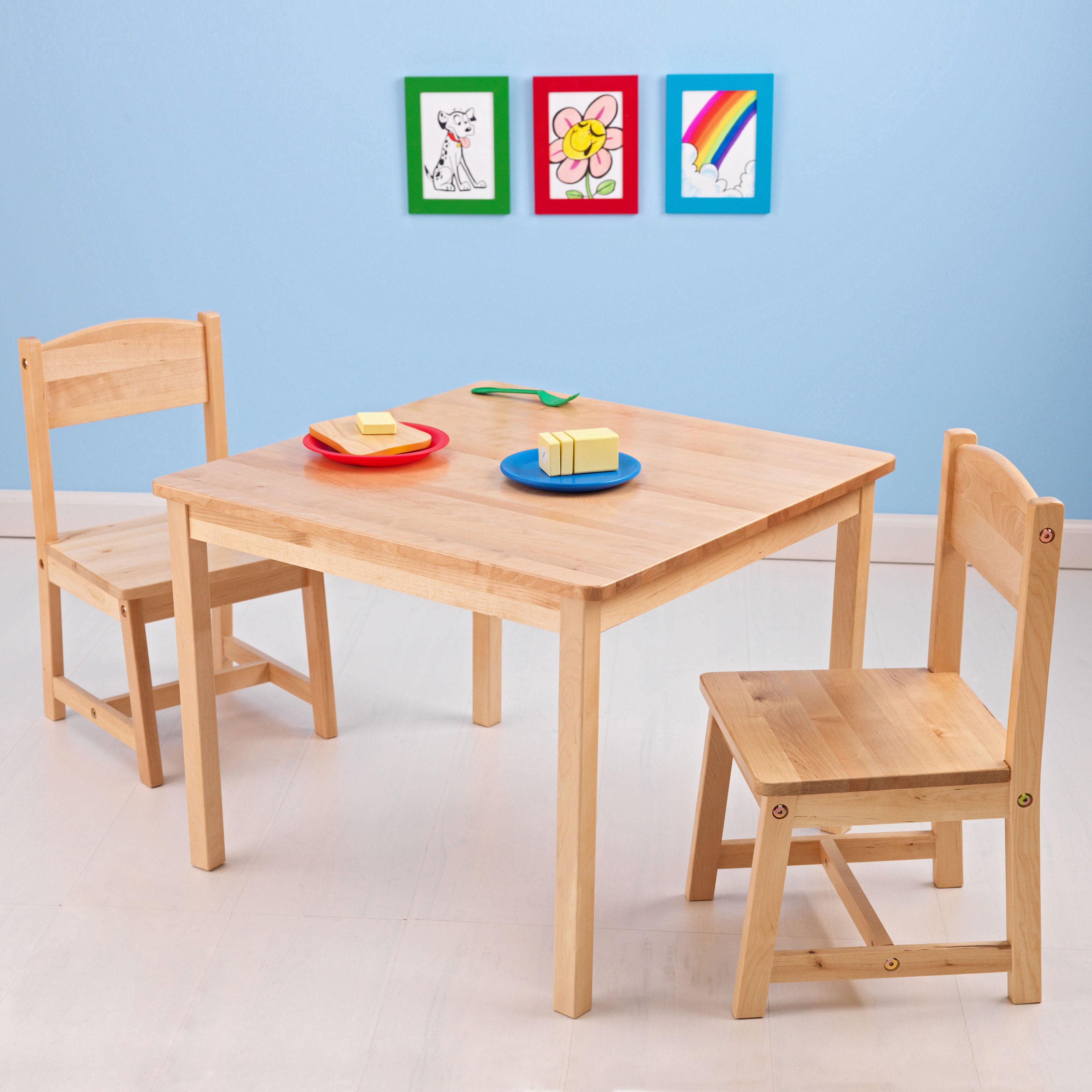 KidKraft Aspen Kids 3 Piece Table and Chair Set Walmartcom