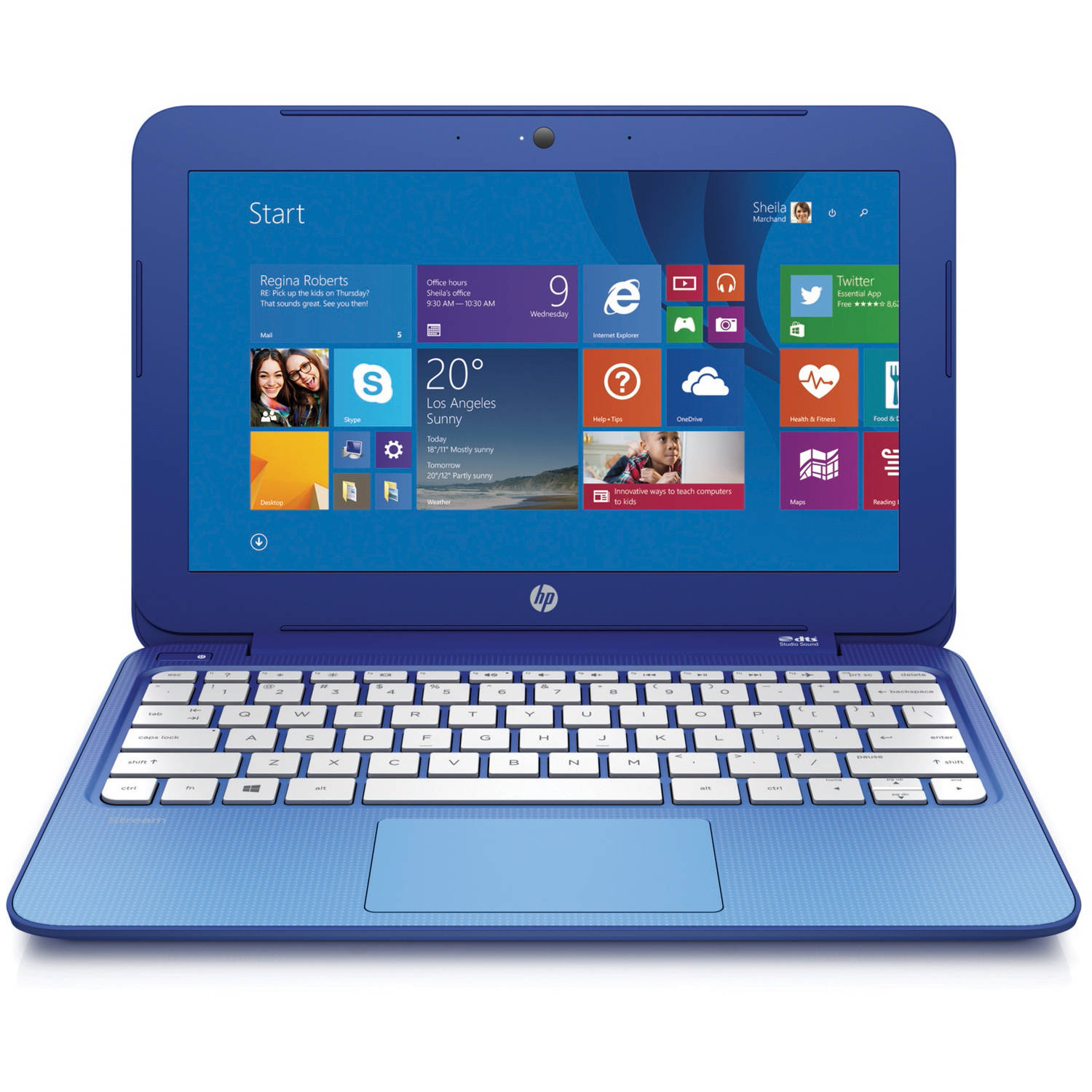"Refurbished HP Horizon Blue 11.6"" Stream 11-d010wm Laptop PC with Intel Celeron N2840 Processor, 2GB Memory, 32GB Hard Drive and Windows 8.1"