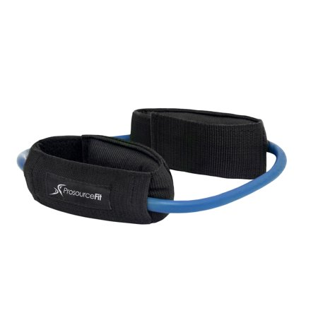 Blue Heavy Resistance (ProsourceFit Leg Resistance Exercise Band Heavy Duty Tube with Padded Ankle Cuffs for Lower Body Workouts)