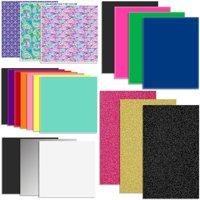 Oracal Vinyl and Siser EasyWeed Heat Transfer (HTV) Starter Sample Pack - 20 Sheets