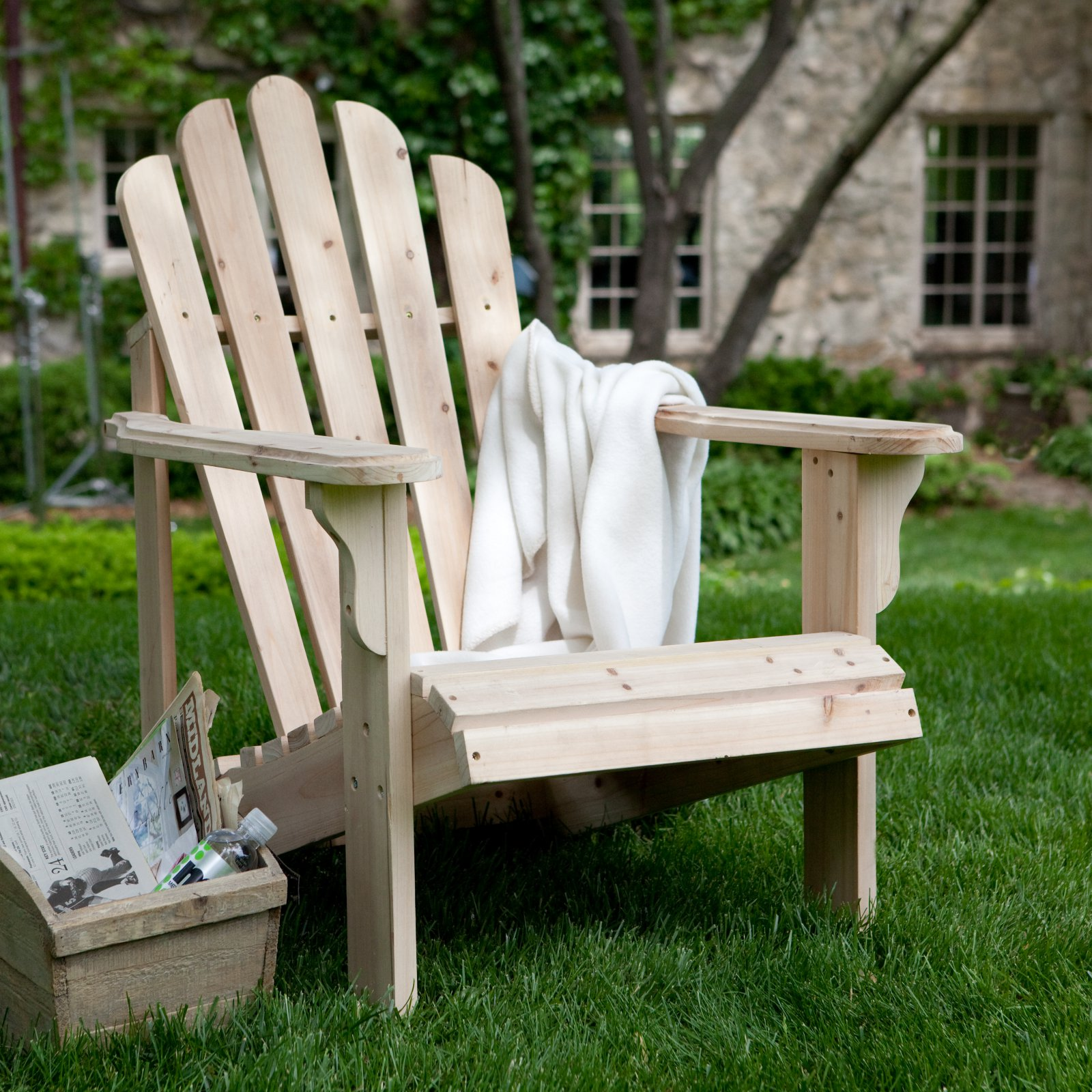 Coral Coast Hubbard Unfinished Wooden Adirondack Chair by Weicheng (HK) Industrial Trade Co Ltd