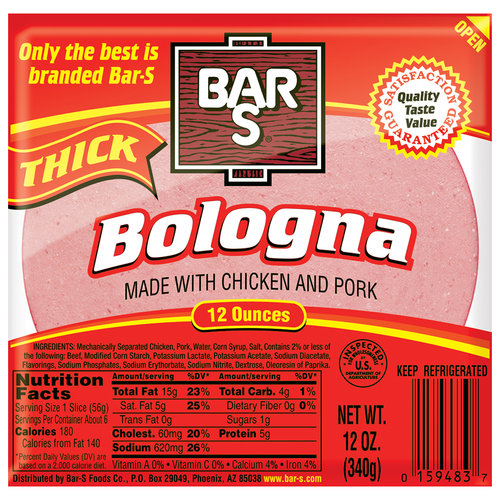 Bar-S Thick Bologna, 12 oz