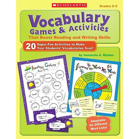 Vocabulary Games & Activities That Boost Reading and Writing Skills, Grades 2-3 - Halloween Writing Activities 2nd Grade