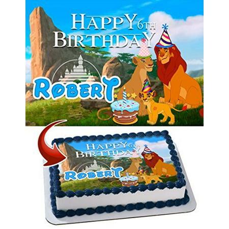 The Lion King Edible Cake Topper Personalized Birthday 1/4 Sheet Decoration Custom Sheet Birthday Frosting Transfer Fondant Image (King Cape)
