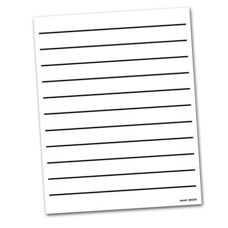 Bold Line Writing Paper with Large 0.875-in. Spaces