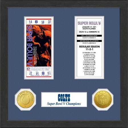 Nfl Framed Wall Art By The Highland Mint  Baltimore Colts   Super Bowl Championship Ticket