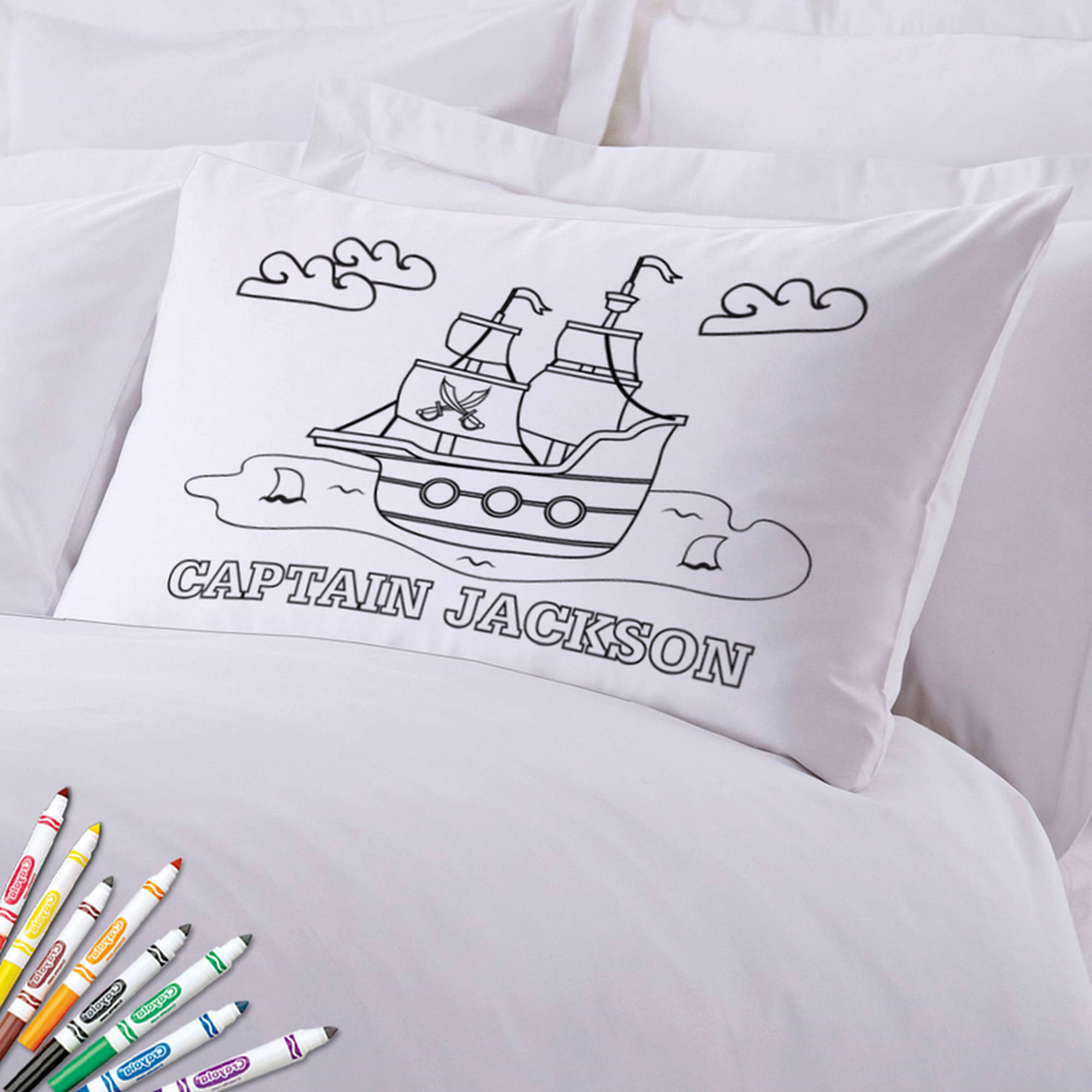 "Add Color Kids Custom Pirate Ship Pillowcase, 20"" x 30"""