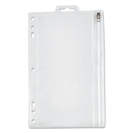 Additional Zippered Pockets - Zippered Ring Binder Pocket, 9 1/2 x 6, Clear