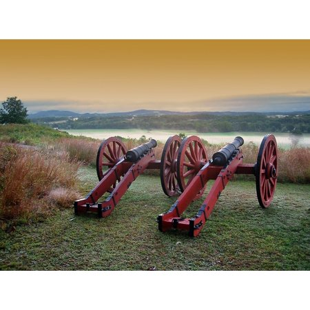 Framed Art for Your Wall Saratoga Battlefield Maryland Antietam Battlefield 10x13 Frame ()