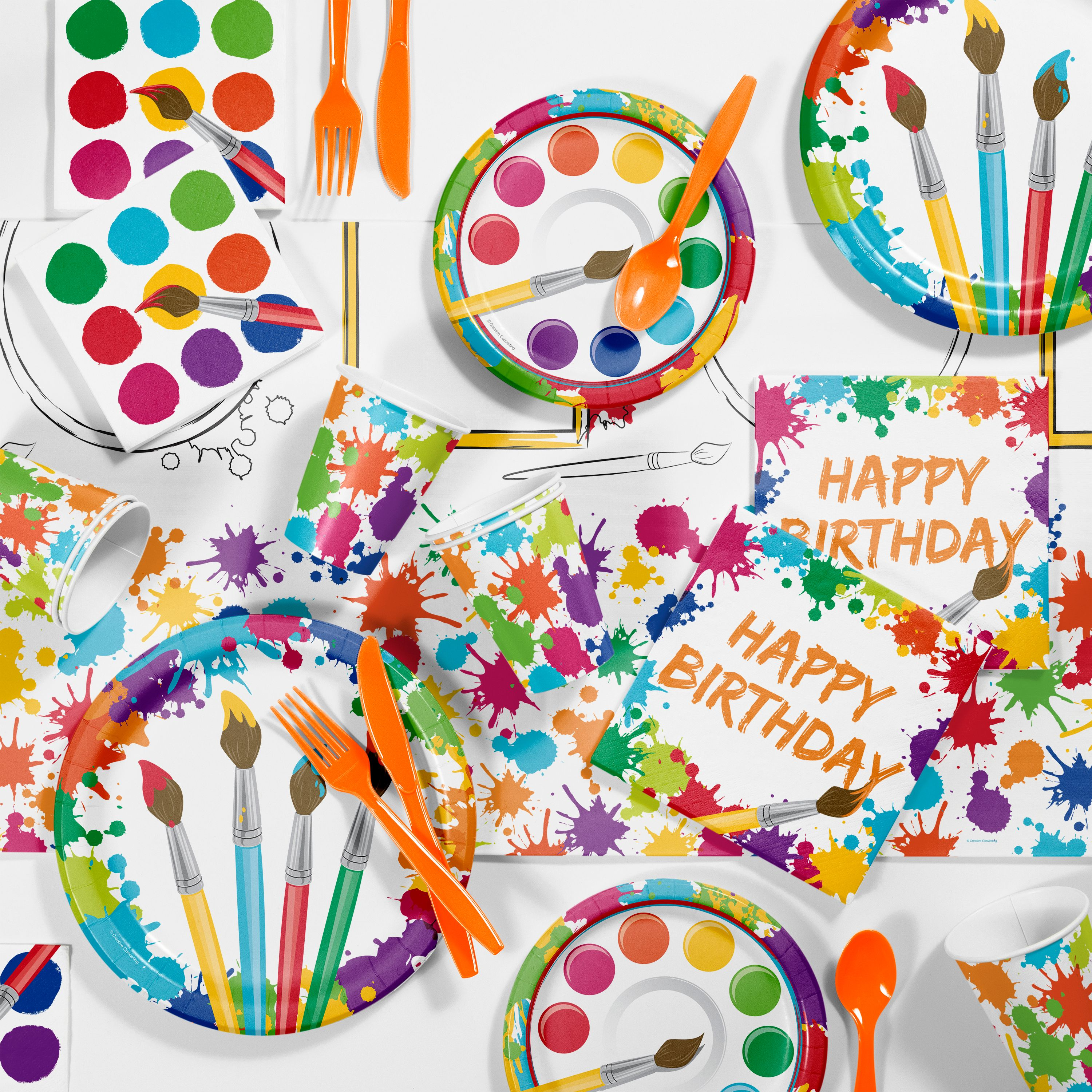 Art Birthday Party Supplies Kit