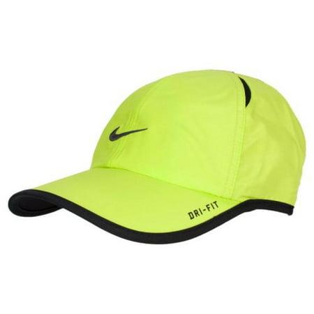 Nike Adult Unisex Tennis Runner Featherlight DRI-FIT Hat Neon Lemon for $<!---->