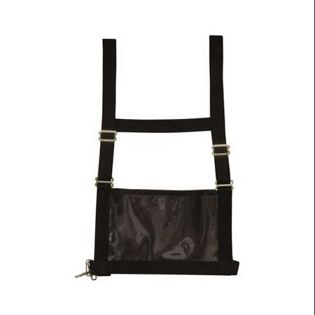 Western Harness - Weaver Leather 35-8102-BK Show Number Harness, Black Nylon, Adult Medium/Large - Quantity 1