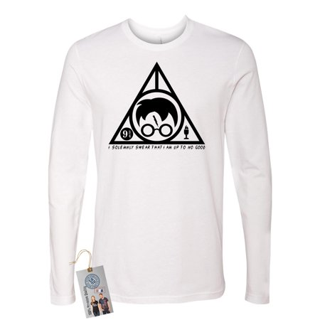 Mens Triangle - Harry Potter Solemnly Swear Triangle Mens Long Sleeve Shirt