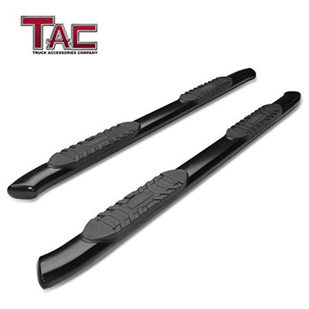 TAC Side Steps Running Boards Fit 2019 Chevy Silverado / GMC Sierra 1500 Crew Cab (Excl. Diesel models with DEF tanks) Truck Pickup 5