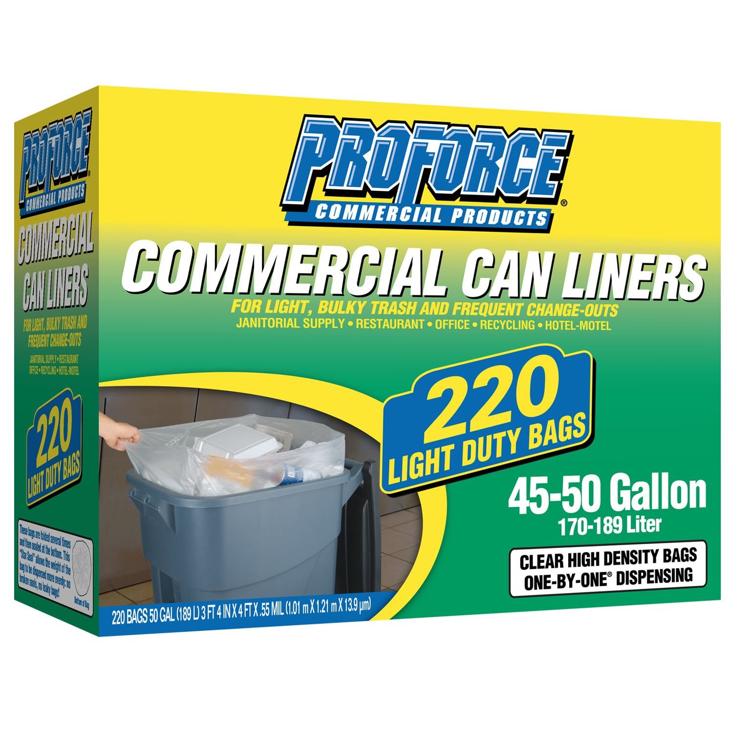 ProForce Commercial Can Liners, 220 ct.