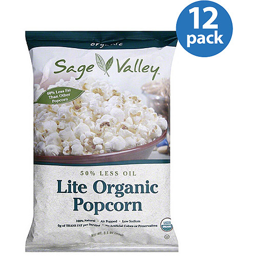 Sage Valley Lite Organic Popcorn, 3.5 oz (Pack of 12)