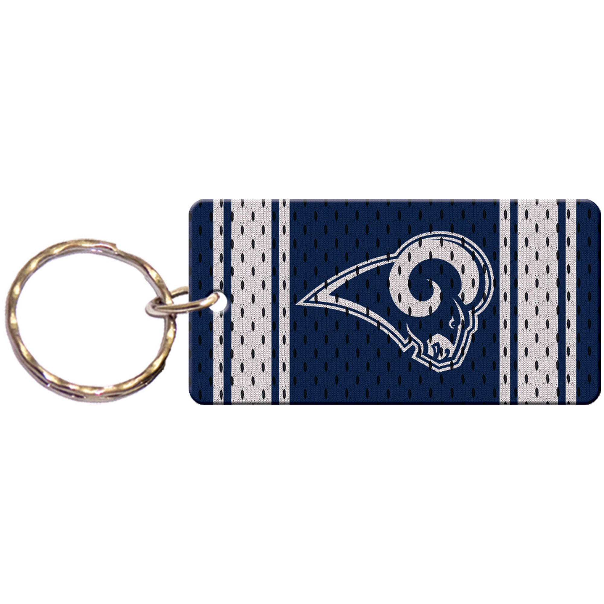 Los Angeles Rams Jersey Printed Acrylic Team Color Logo Keychain - No Size