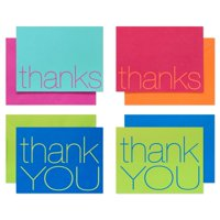 American Greetings 50 Count Thank You Cards and Multicolored Envelopes, Bold Multicolored