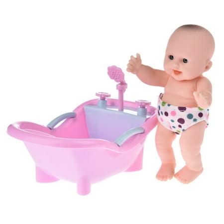 Simulation Doll, Vinyl Mini Simulation Emoji Doll Cradle Bath Baby Doll