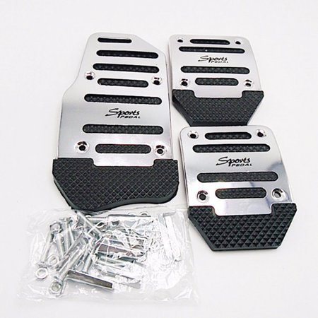 AkoaDa 3Pcs\/Pack Universal Car Aluminium Alloy Non-Slip Pedal Automatic Manual Car Throttle Brake Clutch Accelerator Foot Treadle On Car Brake Lathe