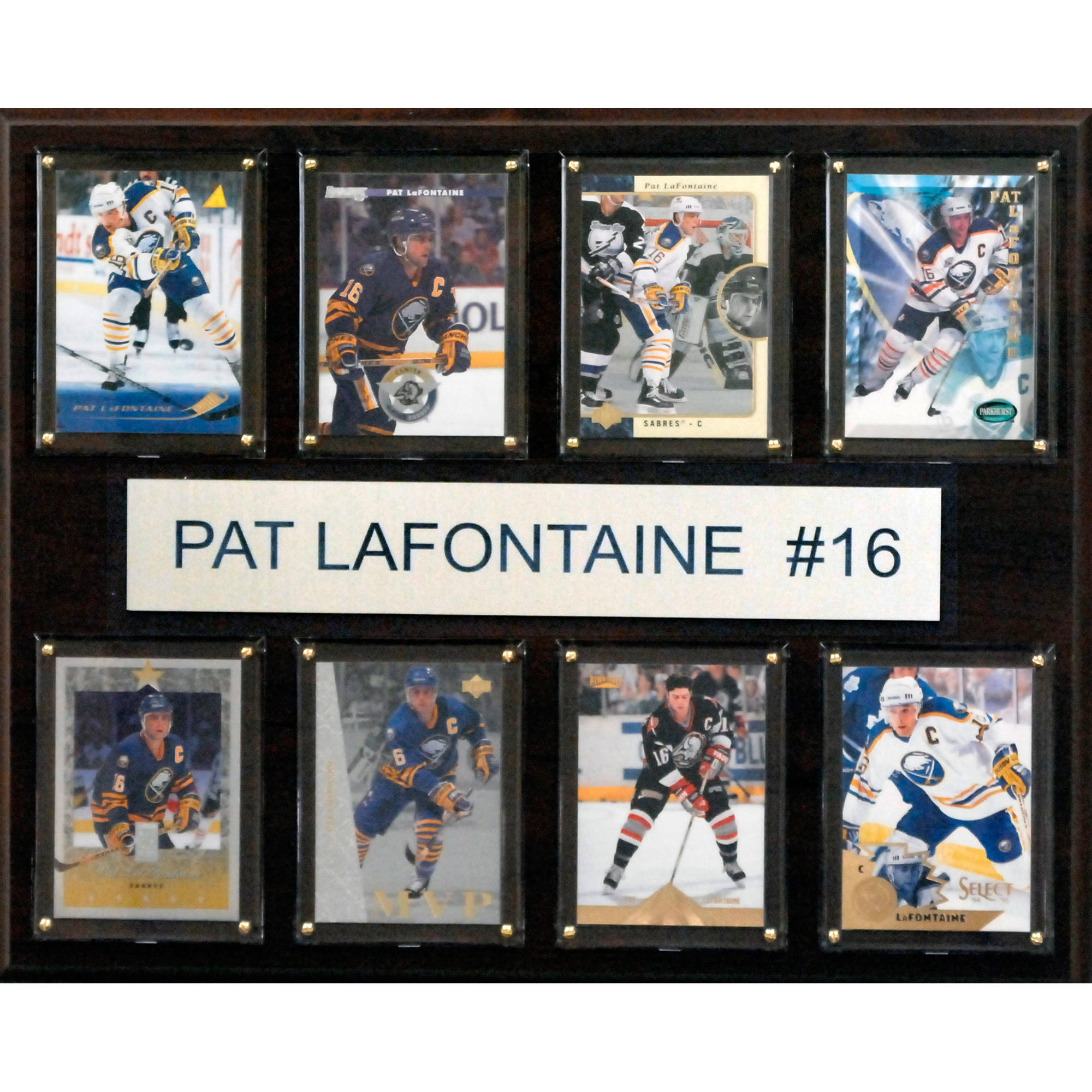 C&I Collectables NHL 12x15 Pat LaFontaine Buffalo Sabres 8-Card Plaque