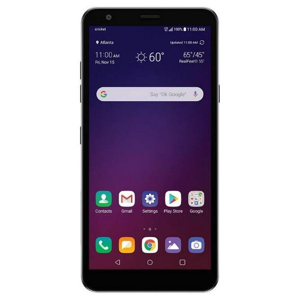 Cricket Wireless Lg Escape Plus 32gb Prepaid Smartphone Platinum Gray Walmart Com Walmart Com