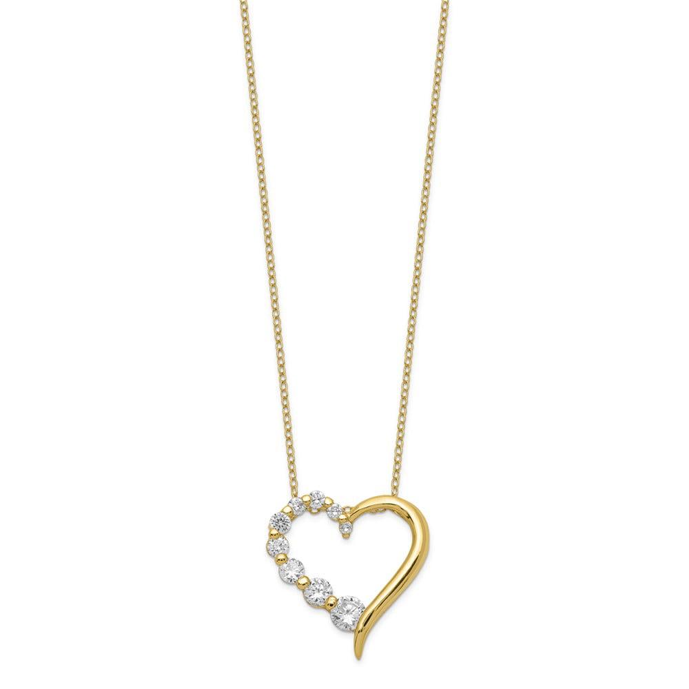 Sterling Silver Vermeil Cz Journey Necklace