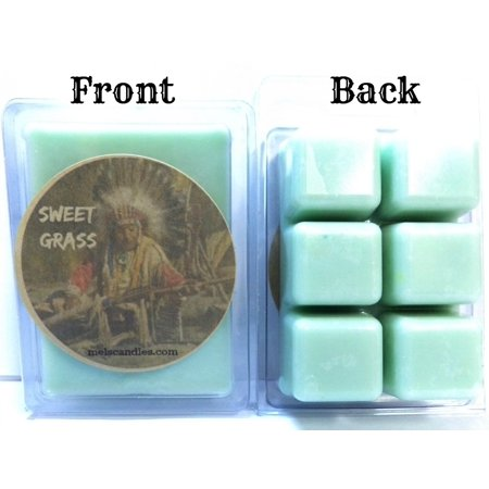 - Sweet Grass 3.4 Ounce Pack of Soy Wax Tarts -(6 Cubes Per Pack) Scent Brick, Wickless Candle, Great for Any Electric Burners