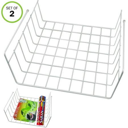 Slide Out Shelving (Evelots Slide Under Shelf Extra Storage Baskets-Kitchen-Office-Sturdy Wire-Set/2 )