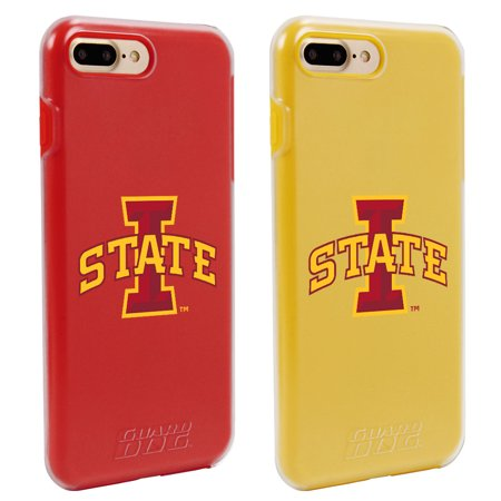 Iowa State Cyclones Fan Pack 2 Cases For IPhone 7 Plus 8 With Guard Glass Screen Protector NCAA
