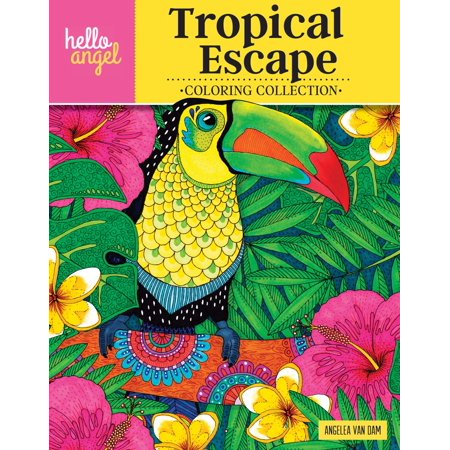 Hello Angel Coloring Collection: Hello Angel Tropical Escape Coloring Collection (Paperback) - Hello Kitty Coloring Books
