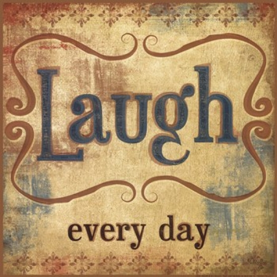 Laugh Poster Print by Mollie B (12 x 12)