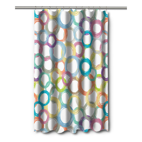 Island Girl Home Modern Coiled Shower Curtain