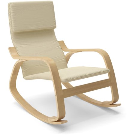 CorLiving Aquios Bentwood Contemporary Rocking Chair, Multiple Colors