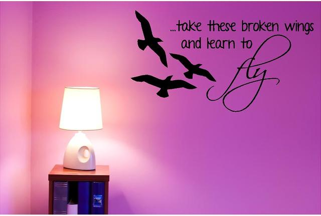 """Vinyl Wall Decal: Beatles Wall Decor - Blackbird 