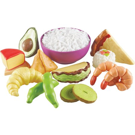 Learning Resources New Sprouts Multicultural Food Set, 15 Pieces (Play Green Sprouts)