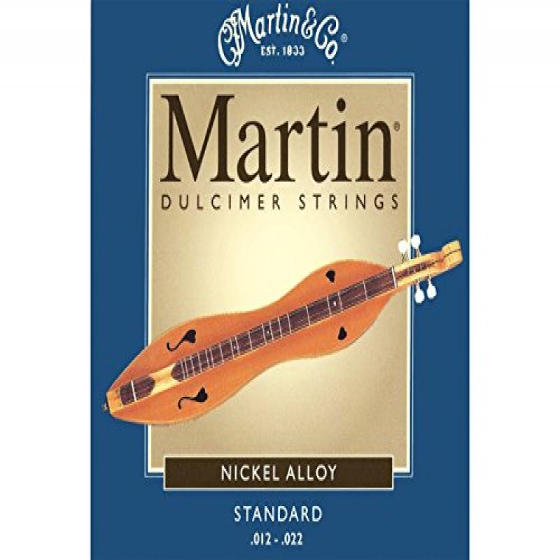 Mountain Dulcimer String Set, Martin Standard Gauge (.012, .012, .012, .022 Nickel Wound) by