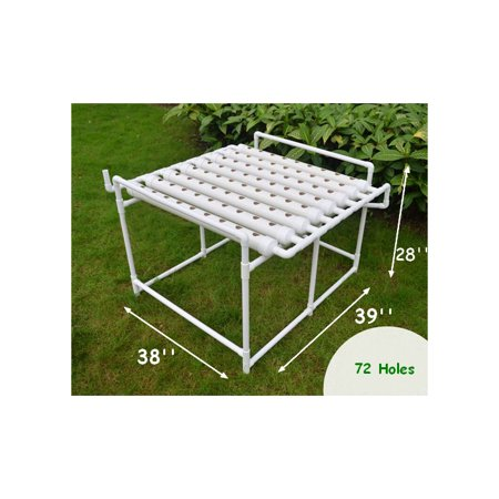 INTBUYING 72 Sites Hydroponic Site Grow Kit Deep Water Culture Garden System Ebb and