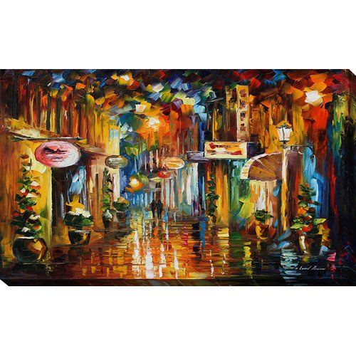 Picture Perfect International Old City Street By Leonid Afremov Painting Print On Wrapped Canvas Walmart Com Walmart Com
