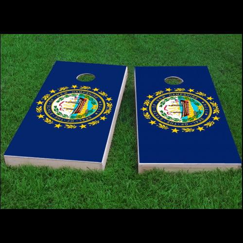 Custom Cornhole Boards New Hampshire State Flag Cornhole Game (Set of 2) by Custom Cornhole Boards