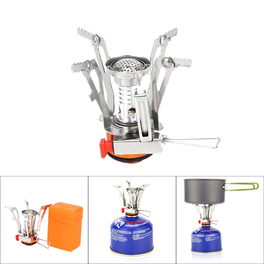 Amazing Portable Foldable Practical Outdoor Camping Stove with Piezo Ignition