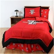Comfy Feet TTUBBKG Texas Tech Bed in a Bag King - With Team Colored Sheets