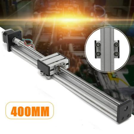 linearactuator;sliderailguide;linearsliderail;sliderail;ballscrew;linearrail;automationmotorsdrive;longstageactuator;actuator;linearmotion 1204 Ball Screw CNC Linear Slide Stroke 400MM Long Stage Actu