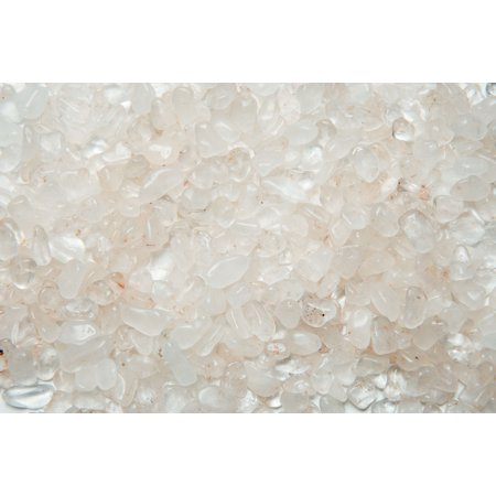 (Fantasia Crystal Vault: 1/2 lb Crystal Quartz Tumbled Stones - XXSmall - 0.25