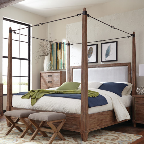 Donny Osmond Home Madeleine Upholstered Canopy Bed