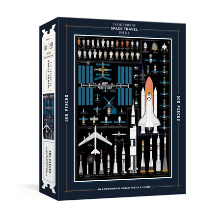 The History of Space Travel Puzzle : Astronomical 500-Piece Jigsaw Puzzle & - Piece History