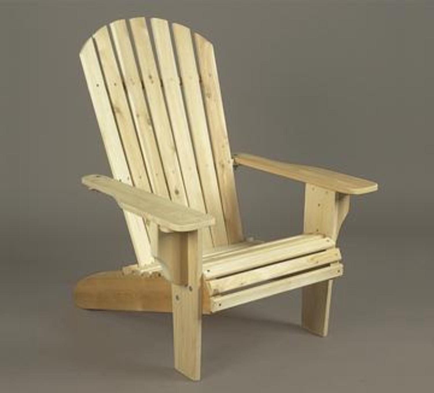 """40"""" Natural Cedar Deluxe Over-Sized Wooden Adirondack Chair"""